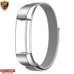 Fitbit Alta Bracelet Strap Wrist Band Stainless Steel Metal Rose Pink Diamonds #FitbitAltaBraceletStrap