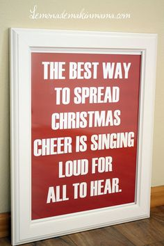 And I love to sing!
