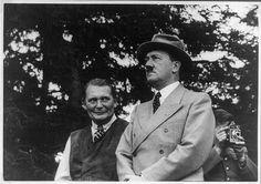 Hermann Göring and Adolf Hitler
