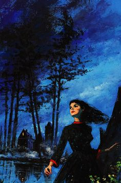 "forthegothicheroine: "" vintagegal: "" Haunted Houses Pulp Art c. "" I don't care if ""woman running away from a house"" is an overused gothic romance cover art thing, I love it. Gothic Horror, Arte Horror, Horror Art, Backgrounds Wallpapers, Romance Art, Goth Art, Vintage Horror, Pulp Art, Retro Art"