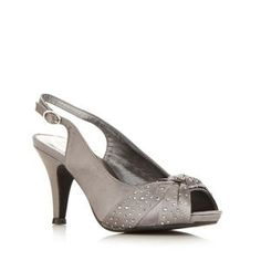 fce40095d63c Bridesmaid shoes Debut Grey satin high slingback court shoe- at Debenhams  Mobile Bridesmaid Shoes