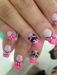 Hermosas Funky Nail Art, Cute Nail Art, Beautiful Nail Art, Creative Nail Designs, Creative Nails, Nail Art Designs, Little Girl Nails, Girls Nails, Nails 2015