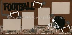 Football Scrapbook Page Kit [football11] - $5.99 :: Lotts To Scrap About - Your Online Source for Scrapbook Page Kits!