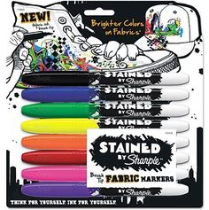 Sharpie Stained Permanent Fabric Marker, Assorted, 8pk: Get it for $9.73 (was $12.14) #coupons #discounts