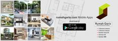 Desain Rumah Garis | konsultan desain arsitektur & interior indonesia Drawing House Plans, Modern Bungalow House, Desktop Screenshot, Floor Plans, House Design, Ali, Kitchens, Home Decor, Projects