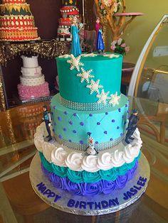 Frozen birthday cake. Visit us Facebook.com/Marissa'scake or www.marissascake.com Frozen Birthday Cake, Girl Cakes, Pastel, Facebook, Girls, Desserts, Ideas, Food, Toddler Girls