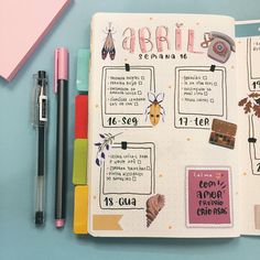 Hobbies With Animals Agenda Planner, Study Planner, Journal Layout, Journal Pages, Bujo, Planners, Bullet Journal Font, Journal Organization, Bullet Journal Inspiration