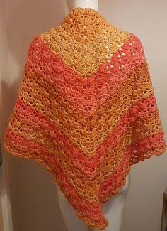 handmade autumn shawl multicoloured shawl halloween shawl