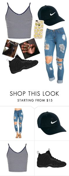 """""""❕"""" by tiarao8 ❤ liked on Polyvore featuring NIKE and Topshop"""