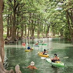 If you want to enjoy a crowd -free kayak excursion, then head to the Medina River. There is nothing more relaxing then winding down the river surrounded by soaring Baldcypress trees.  Bandera is anywhere from a 45 to 90-minute drive, depending on if you are coming from Fredericksburg, San Antonio or Austin. The Medina River Company, located in Bandera, has Kayaks and tubes for rent . Always best to call first because water levels vary significantly on this pretty amazing river. (Photo: Van…