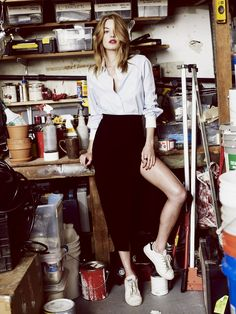 Camille Rowe Charlotte Rampling, Look Fashion, Fashion Outfits, Womens Fashion, Fashion Models, Twiggy, Camille Rowe Style, Moda Casual, Inspiration Mode