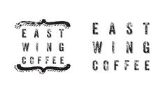 Brand identity for newly established, university-based coffee house, East Wing…