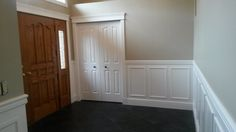 Wainscoting in you entrance is a beautiful added touch.