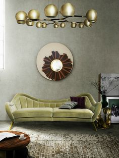To prove you that a green sofa is an excellent addition to your living room furniture set, here are 21 reasons. #modernsofas #livingroomfurnitureset #greensofa See more: https://www.brabbu.com/en/inspiration-and-ideas/interior-design/reasons-love-green-sofa