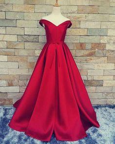 Red Prom Dress,Off Shoulder Prom Dress,Prom Dress Long,Prom Dress Ball Gown,MA001 #comfortFashion