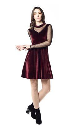 ANNIE 50 ROBE ISABELLE VELOURS PRUNE Prune, Isabelle, Annie, Dresses, Fashion, Velvet, Dress Ideas, Fashion Ideas, Vestidos