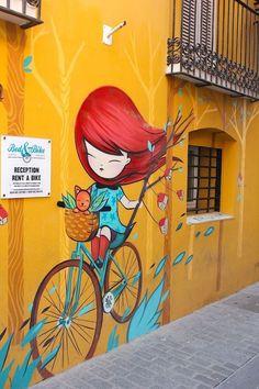 Street Art from Julieta in Valencia, Spain Murals Street Art, Street Wall Art, Graffiti Murals, Best Street Art, Amazing Street Art, Street Art Graffiti, Amazing Art, Graffiti Artists, Graffiti Lettering