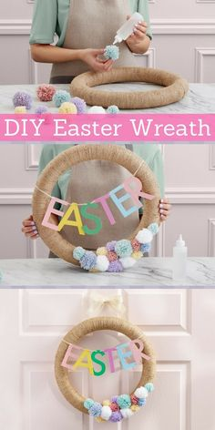 How to make a DIY Easter Wreath via Discover, a blog by World Market #ad #easterdecor