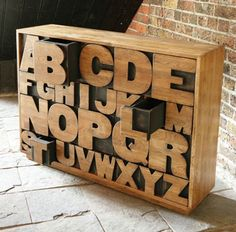 alphabet drawers furniture... could there be a more perfect piece of alpha love?