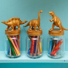 kleurpotloden in dinopot