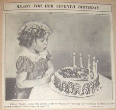 1936 Shirley Temple's 7th (8th) Birthday