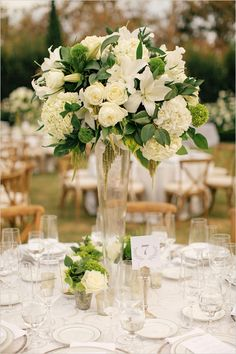 tall floral centerpieces @weddingchicks
