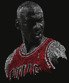 MJ  #michael #jordan #poster #typography #customdesign