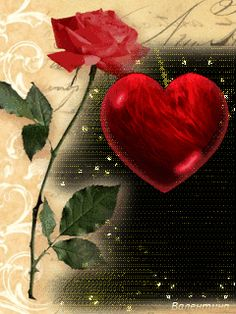 animated gif roses and hearts Love Heart Images, Love You Images, I Love Heart, Beautiful Gif, Beautiful Roses, Beautiful Hearts, Hearts And Roses, Red Roses, Valentine Heart