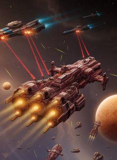 Battleship by LeonovichDmitriy on DeviantArt Spaceship Interior, Spaceship Art, Spaceship Design, Stargate, Concept Ships, Concept Art, Starship Concept, Sci Fi Spaceships, Space Battles