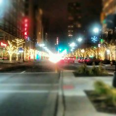 Holiday Lights along Woodward Avenue in Detroit