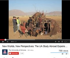 Looking to travel the world...AND get course credit?  Check out the UA Global Initiatives YouTube channel! They have some awesome videos about your fellow wildcats' previous adventures all around the world!