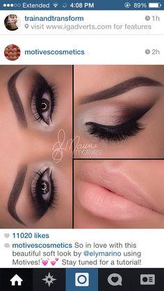Neutral smoky eye makeup look by motives cosmetics