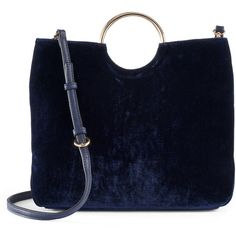 057ed82abd984f LC Lauren Conrad Runway Collection Celeste Velvet Ring Crossbody Bag ($55)  ❤ liked on