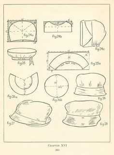 Human Ecology: Practical millinery: Chapter XVI: Infants' and children's millinery Easy Sewing Patterns, Doll Clothes Patterns, Sewing Clothes, Doll Patterns, Diy Hat, Altering Clothes, Looks Vintage, Hat Making, Doll Accessories