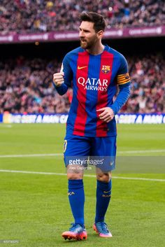 Lionel Messi (R) of FC Barcelona celebrates after scoring his team's second goal during the La Liga match between FC Barcelona and Athletic Club at Camp Nou stadium on February 4, 2017 in Barcelona, Spain.