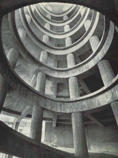 MORE brutalism! 1958 garage parking in Bruxelles... Repinned by Secret Design Studio, Melbourne. www.secretdesignstudio.com