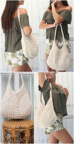 Crochet Boho Bag Pattern Collection – Ideas You'll AdoreYou can find Bag patterns and more on our website.Crochet Boho Bag Pattern Collection – Ideas You'll Adore Bag Crochet, Crochet Shell Stitch, Crochet Market Bag, Crochet Handbags, Crochet Clutch, Crochet Purses, Crochet Clothes, Bag Women, Crochet For Beginners