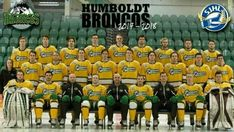 HUMBOLDT BRONCOS 2017/18 There are 28 people in this photograph. 16 of them died.  RIP