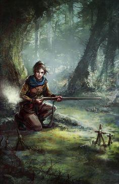 Gunpowder Witch by thegryph on DeviantArt Nicole Cardiff Fantasy Warrior, Medieval Fantasy, Sci Fi Fantasy, Dark Fantasy, Dnd Characters, Fantasy Characters, Female Characters, Character Concept, Character Art