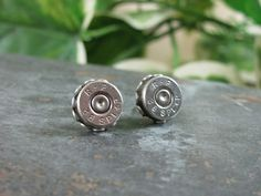 Bullet Jewelry - 38 Special Silver Bullet Casing Stud Earrings - Small, Lightweight, and really pack a punch. $24.00, via Etsy.