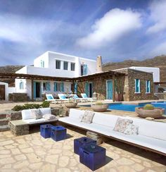 House of Turquoise: Mykonos Panormos Villas.  Though I have not had the pleasure of staying in this villa....Mykonos was one of the MOST beautiful places I have ever been.