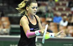 Top-Seed Agnieszka Radwanska def. Yvonne Meusburger 6-4, 6-1.  Katowice Open SF set v Alizé Cornet who def. #5-Seed Klara Koukalová 6 - 2, 0 - 6, 6 - 2.