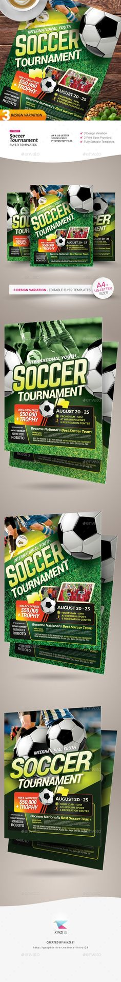 Buy Soccer Tournament Flyer Templates by on GraphicRiver. Soccer Tournament Flyer Templates A sport flyer template set designed to promote a soccer tournament. With this pack,. Baseball Tournament, Baseball League, Sports Flyer, Soccer World, Flyer Template, Color Schemes, Print Design, Templates, Lettering