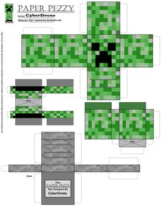 Paper Pezzy- Creeper 'Minecraft' by ~CyberDrone on deviantART