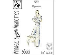 1930's Pajamas B34 PDF sewing pattern VSV 39002 | Etsy