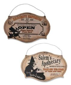Witching Hour Store Sign (Set of 2)
