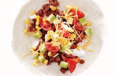 Beef Tacos With Corn Salsa #tortilla