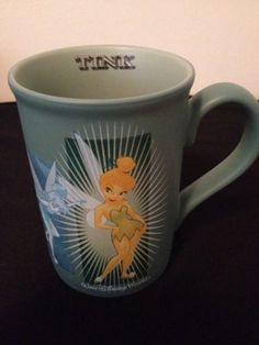 Walt Disney World Tinker Bell Tink Blue Coffee Mug Cup