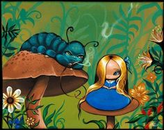 Art 'Alice and the Caterpillar' - by Nico Niemi from alice
