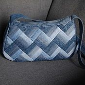Very nice patchwork denim upcycled jeans bag